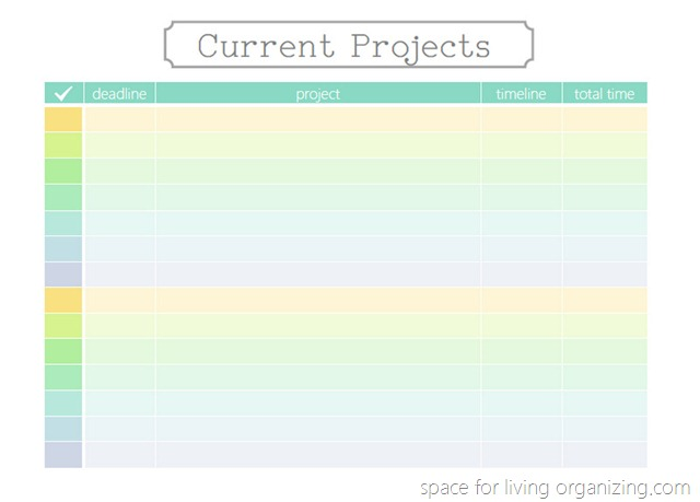 project checklist printable