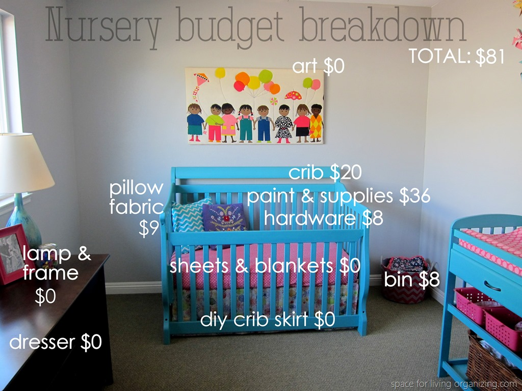 baby on a budget budget breakdown space for living organizing