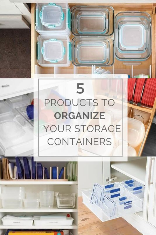 5 Products to organize your food Storage containers & Organizing Your Food Storage - Space for Living Organizing | San ...